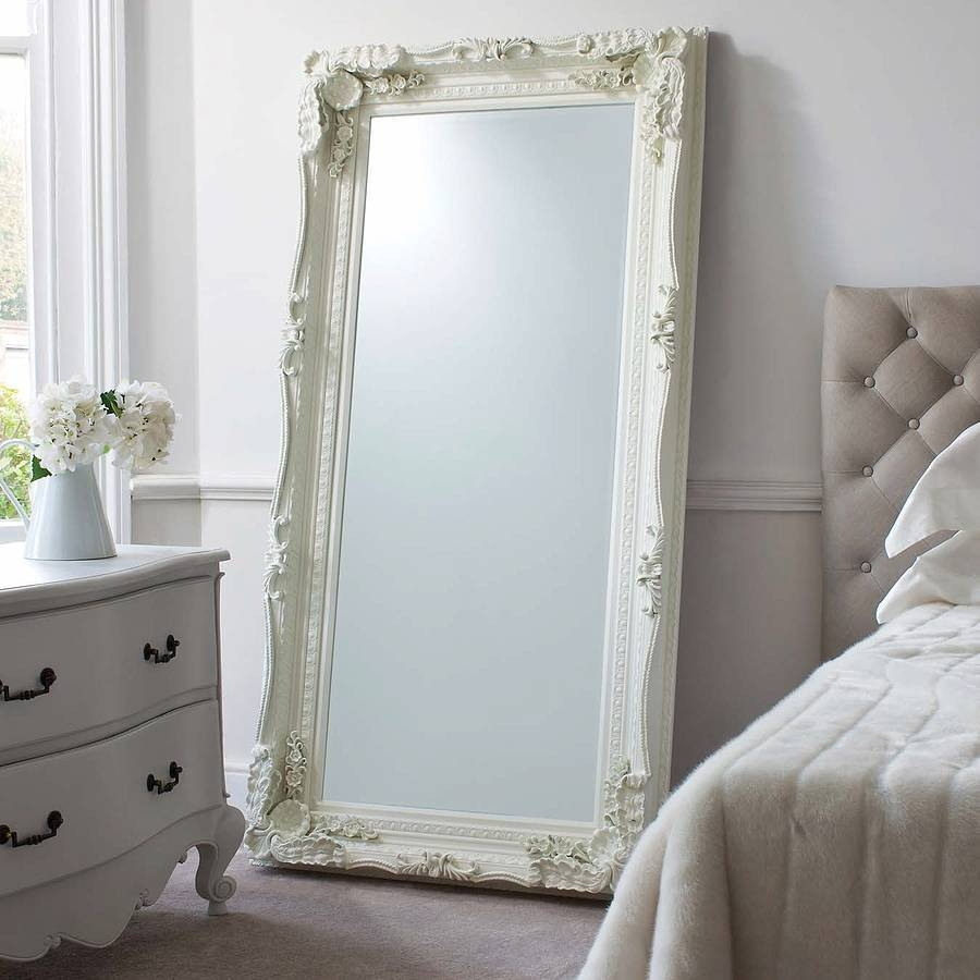 Mirror : Homeware: Freestanding Tall Mirror | Floor Length Mirrors with Ornate Floor Length Mirrors (Image 9 of 15)