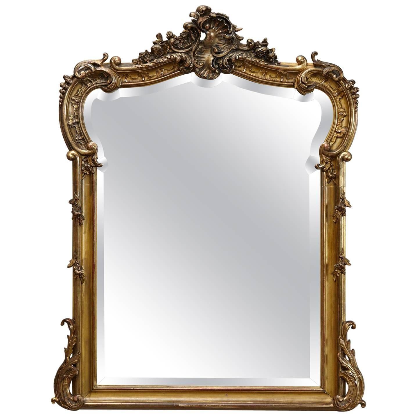 Mirror : Id F Beautiful Rococo Mirrors Cheap 19th Century French For French Rococo Mirrors (View 11 of 15)