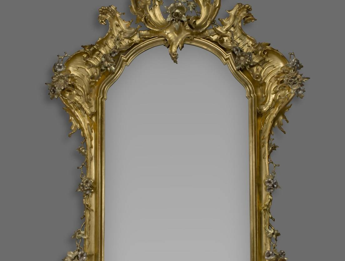 Mirror : Id F Beautiful Silver Gilt Mirror French Silver Gilt in Large Silver Gilt Mirrors (Image 8 of 15)