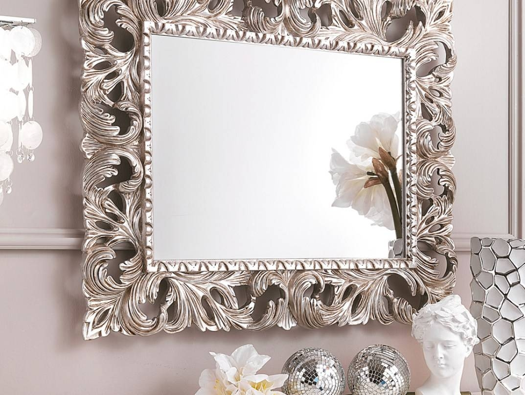 Mirror : Interesting Silver Gilded Mirrors For Sale Rare Silver With Silver Gilded Mirrors (View 9 of 15)