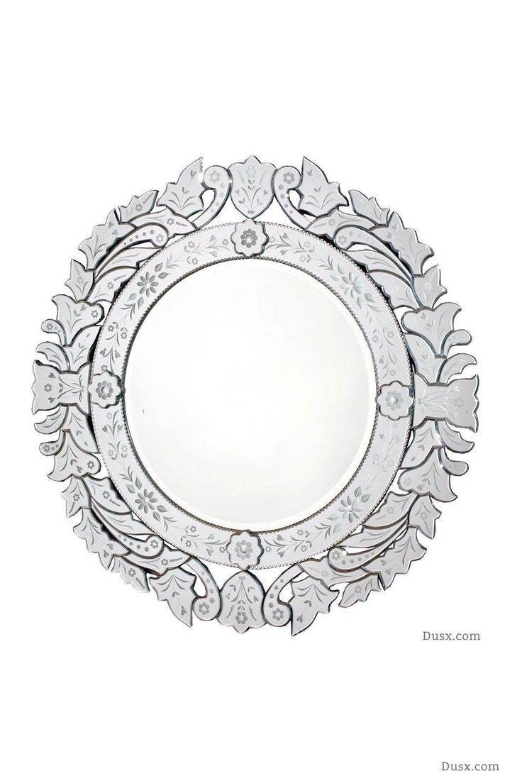Mirror : Jessica Mcclintock Couture Round Venetian Decorative Inside Round Venetian Mirrors (View 14 of 15)