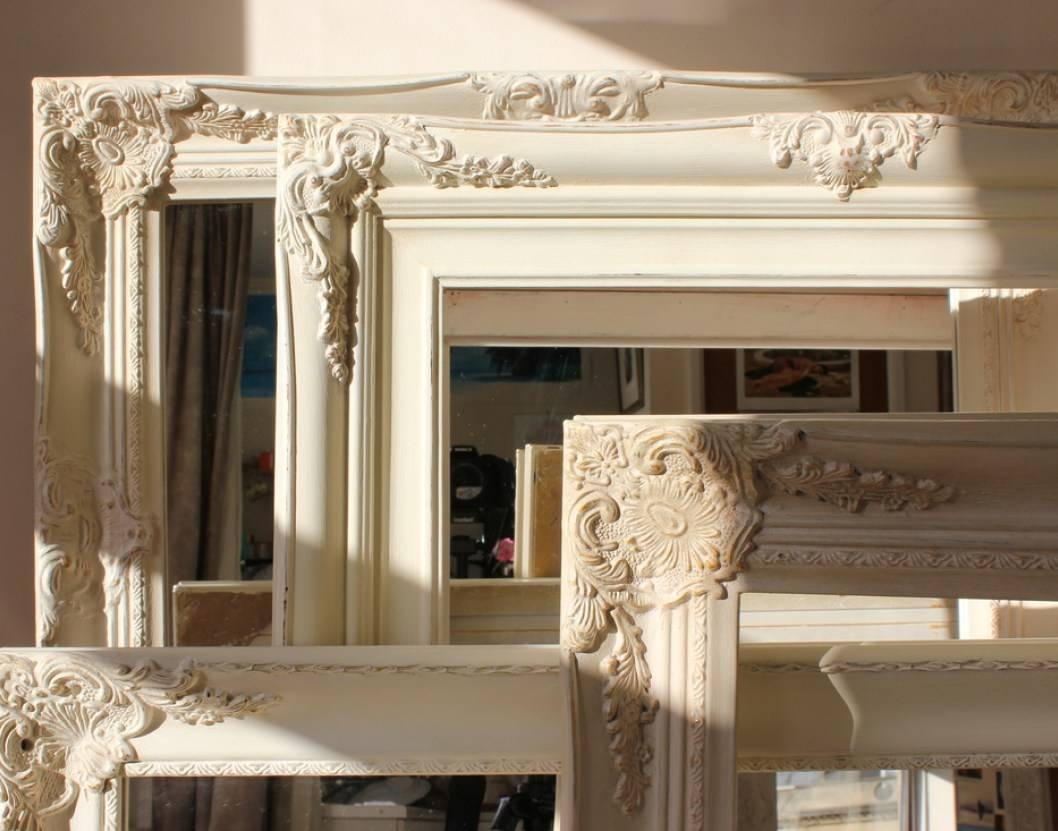 Mirror : Large Antique Gold Shabby Chic Ornate Decorative Over for Gold Shabby Chic Mirrors (Image 9 of 15)