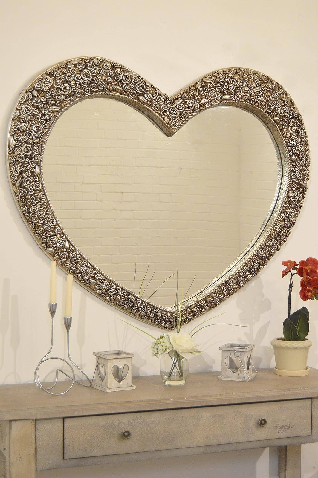 Popular Photo of Large Heart Mirrors