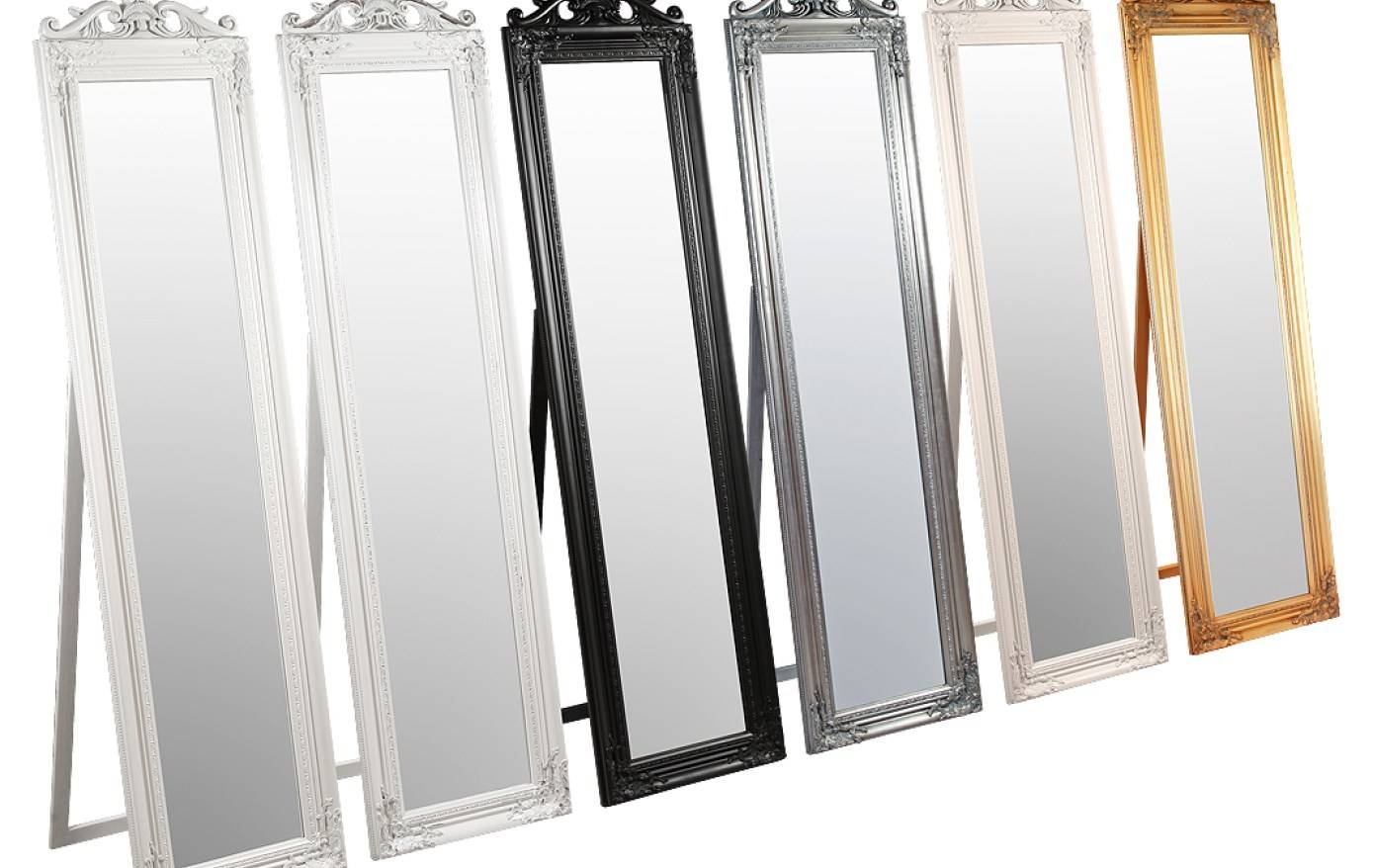 Mirror : Large Black Framed Mirror Outstanding For Large Wall for Black Free Standing Mirrors (Image 13 of 15)
