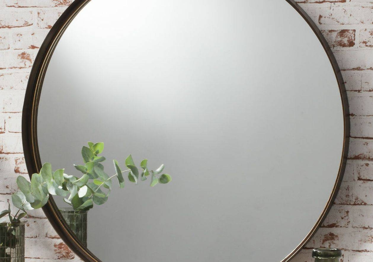 Mirror : Large Circular Wall Mirrors Stunning Decor With Dazzling regarding Large Metal Mirrors (Image 10 of 15)
