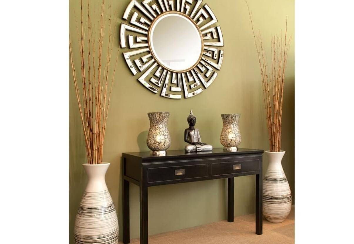 Mirror : Large Circular Wall Mirrors Stunning Decor With Dazzling with Decorative Table Mirrors (Image 10 of 15)