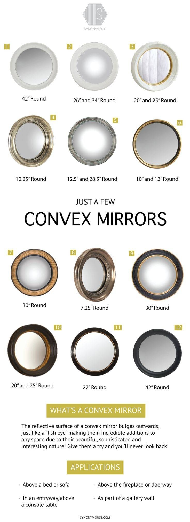 Mirror : Large Round Mirror Stunning Large Bubble Mirror Umbra Throughout Large Bubble Mirrors (View 5 of 15)