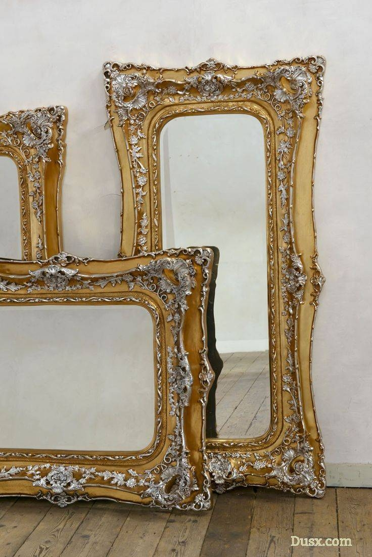 Mirror : Large Silver Gilt Mirror Fantastic Large Silver Gilt inside Large Silver Gilt Mirrors (Image 10 of 15)