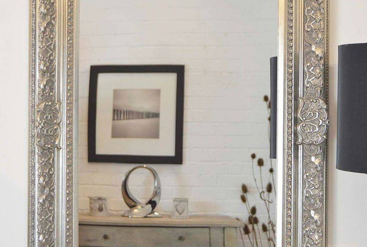 Silver Mirror Wall Photo Frame: 15 Inspirations Of Long Silver Wall Mirrors