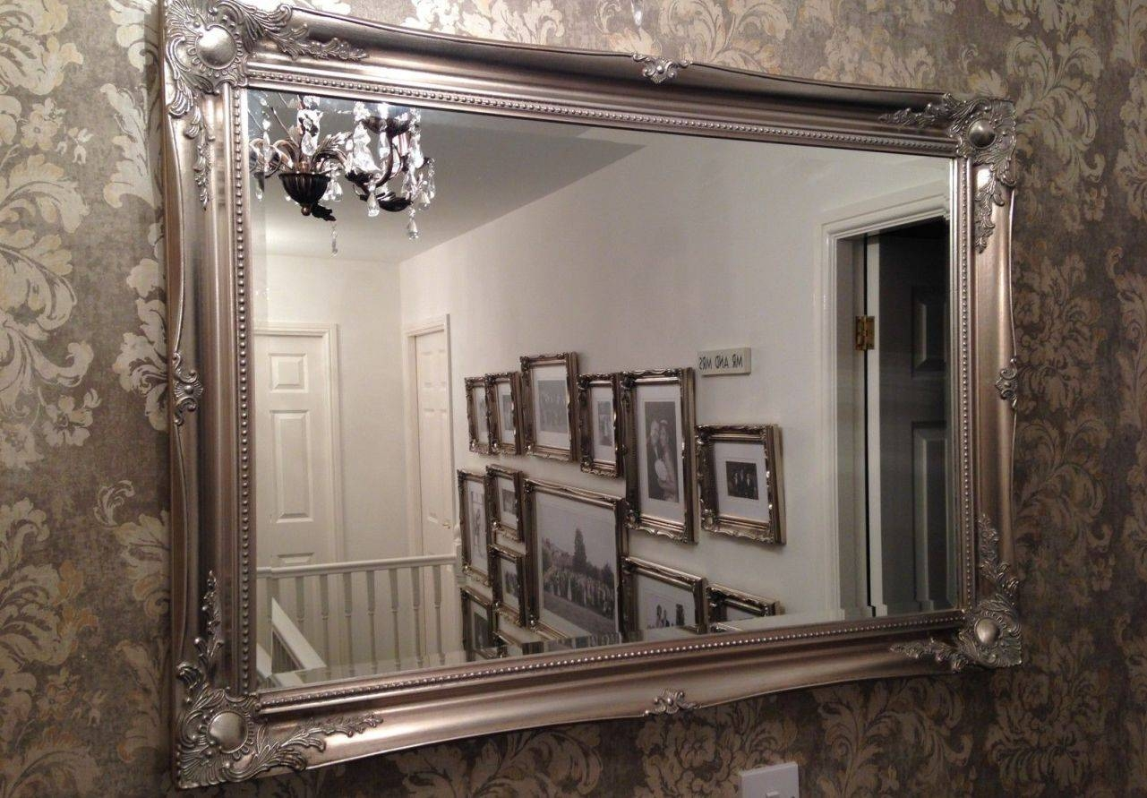 Mirror : Living Room Wall Mirrors Design Wonderful Antique Round With Antique Round Mirrors For Walls (View 6 of 15)