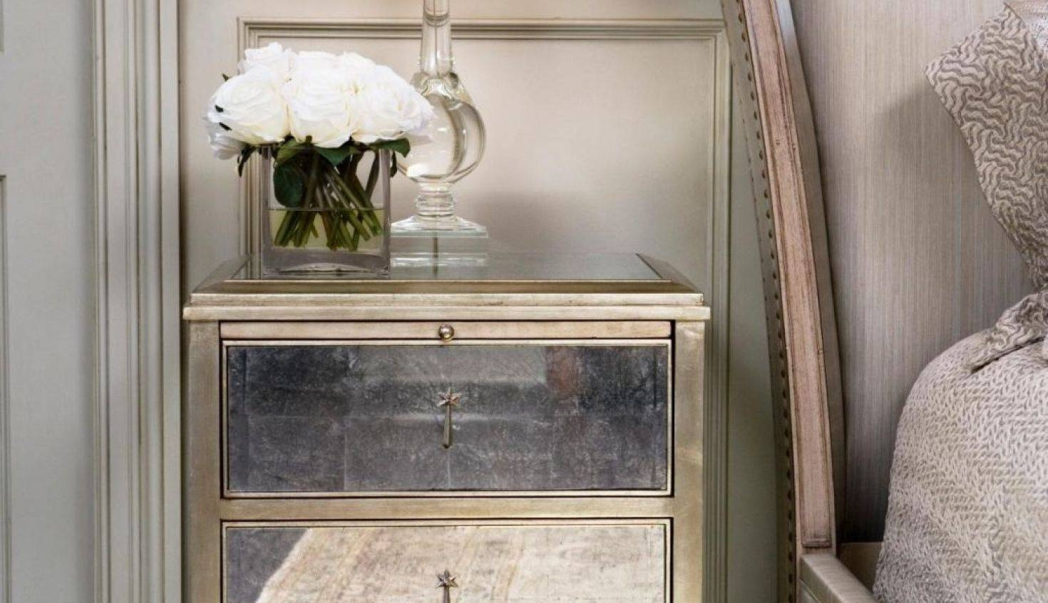 Mirror : Mirrored Nightstand Wonderful Antique Mirrored Bedside For Bedside Tables Antique Mirrors (View 8 of 15)