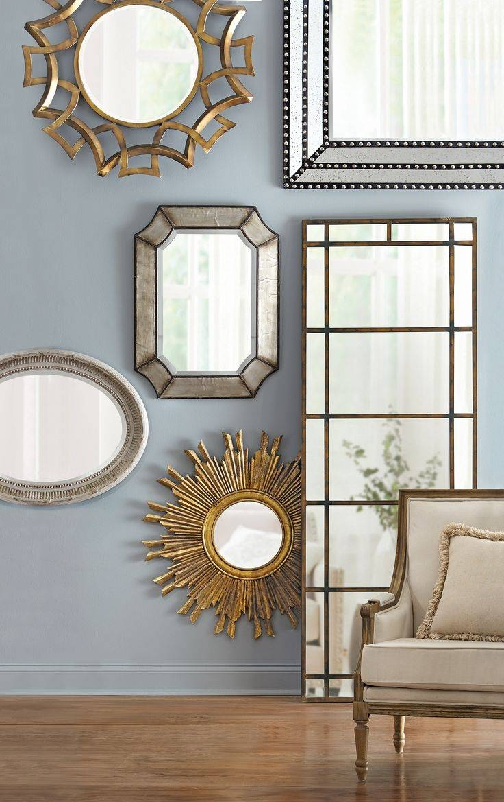 Mirror : Mirrors Wonderful Champagne Wall Mirror X Cm X 75cm Large With Champagne Silver Mirrors (View 11 of 15)