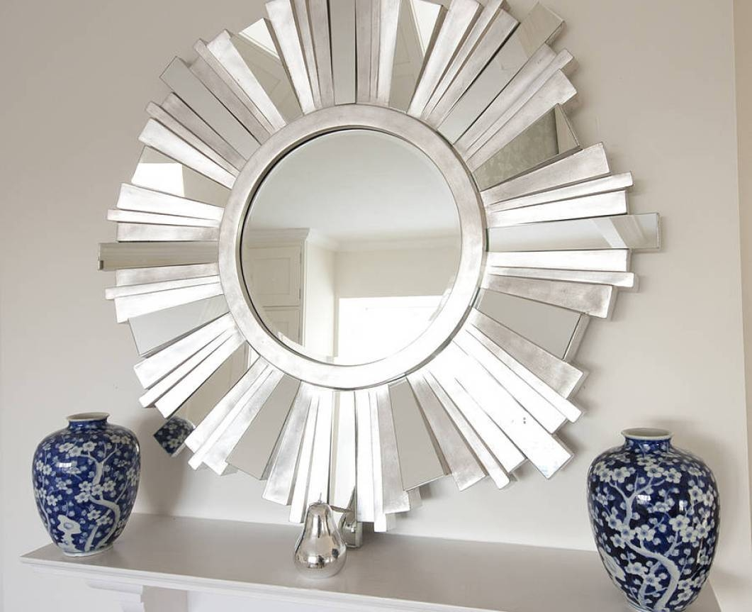 Mirror : Modern Extra Large Round Metal Wall Clock Picture Gallery throughout Large Round Metal Mirrors (Image 11 of 15)