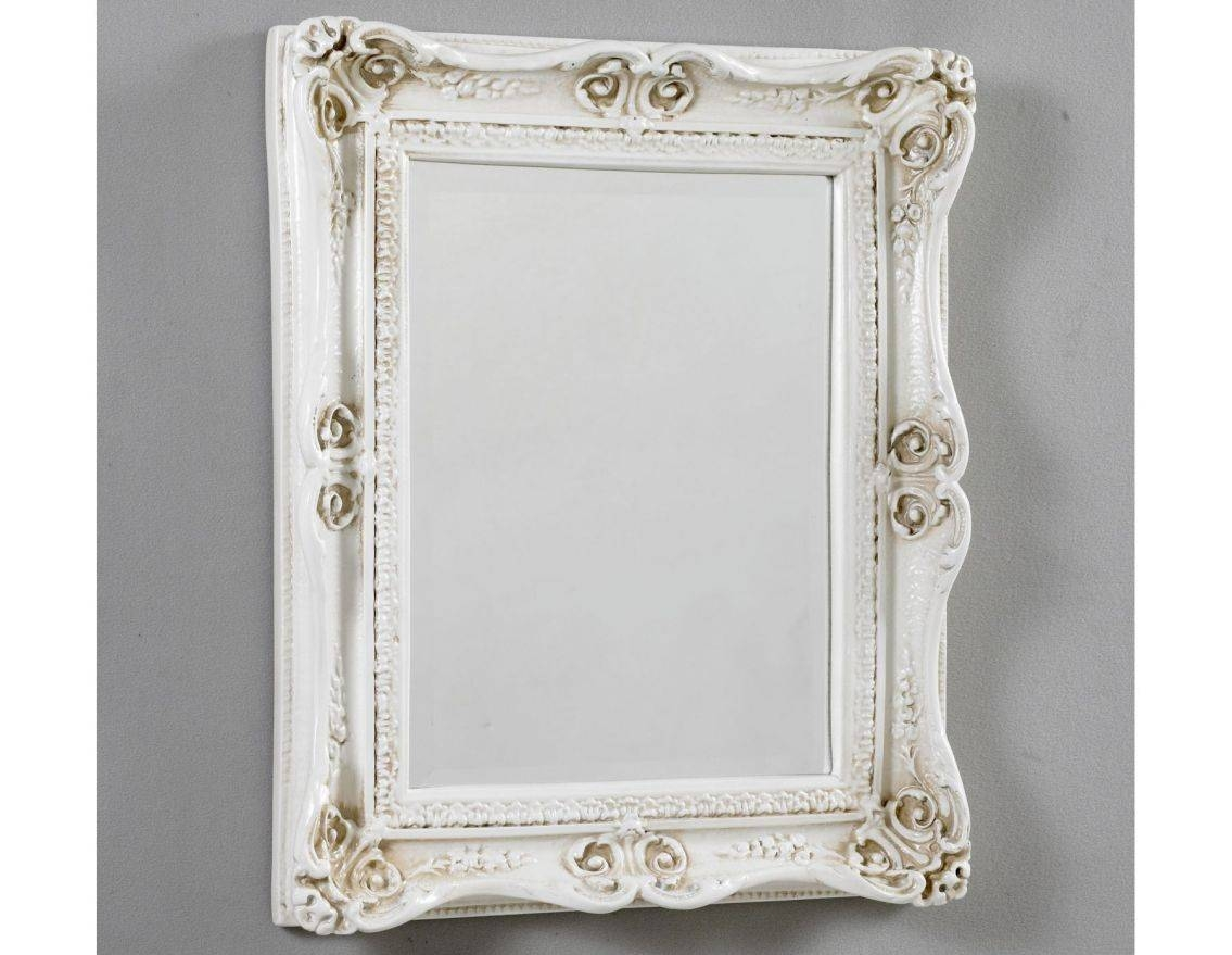Mirror : Old And Vintage French Style Small Vanity Table Painted for Large White French Mirrors (Image 9 of 15)
