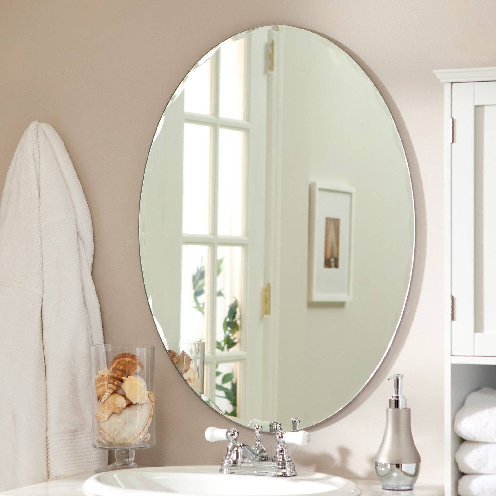Mirror : Oval Bevelled Mirror Satiating' Shocking' Infatuate Oval with regard to Oval Bevelled Mirrors (Image 10 of 15)