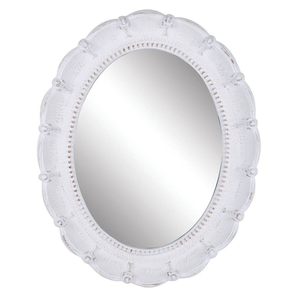 Mirror : Oval White Framed Mirror 83 Cute Interior And Oval Mirror for Oval White Mirrors (Image 5 of 15)