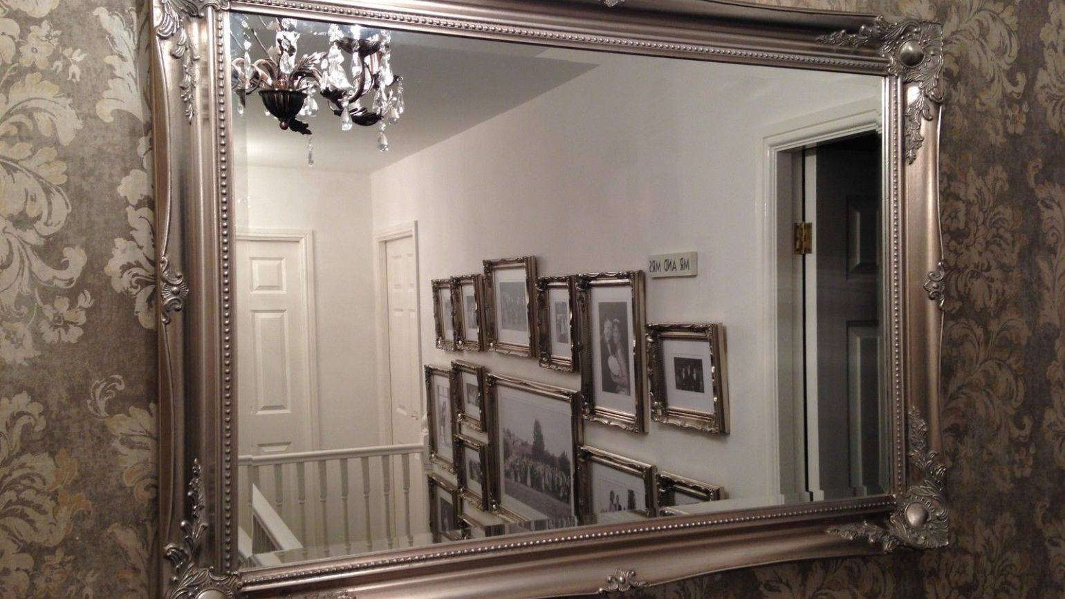 Mirror : Perfect Big White Antique Mirror Astonishing Big Gold For Large White Antique Mirrors (View 13 of 15)