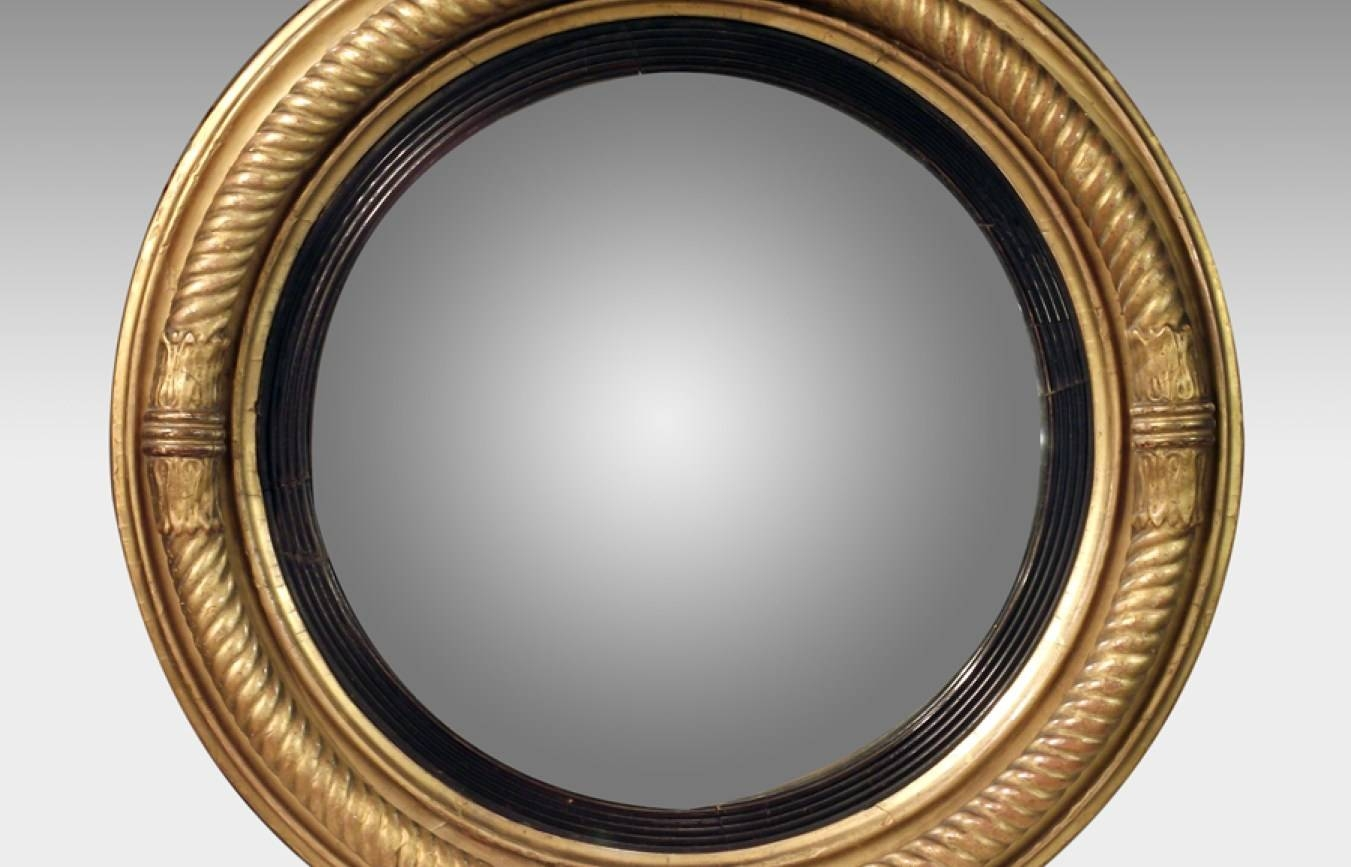 Mirror : Phenomenal Decorative Convex Mirror White Likable regarding Convex Wall Mirrors (Image 11 of 15)