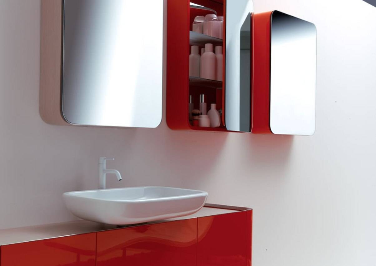 Mirror : Red Wall Mirrors Illustrious' Splendid' Horrifying Large In Red Wall Mirrors (View 11 of 15)
