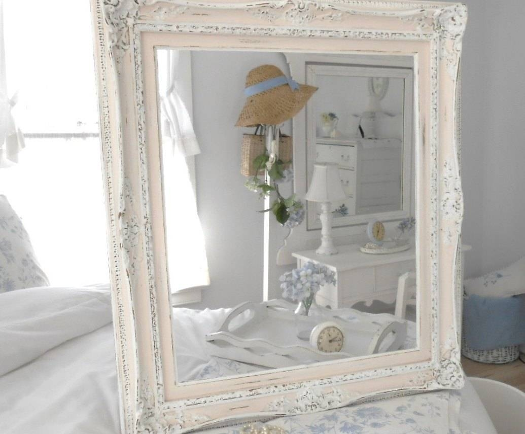 Mirror : Remarkable Old Shabby Chic Mirrors Satiating Large pertaining to Large White Shabby Chic Mirrors (Image 6 of 15)