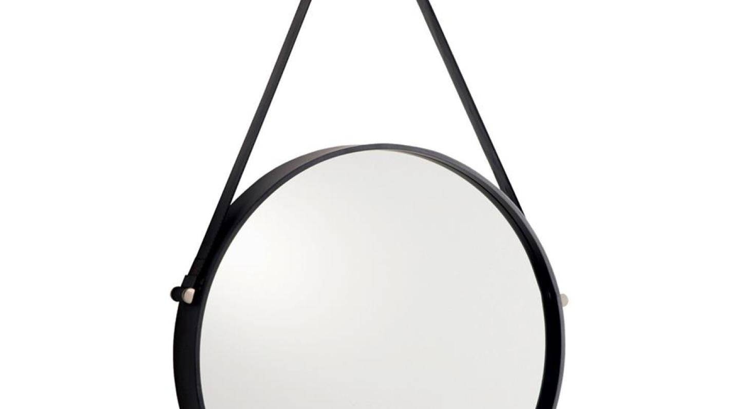 Mirror : Round Mirror Leather Strap 29 Cool Ideas For Damian Round Inside Wall Leather Mirrors (View 13 of 15)