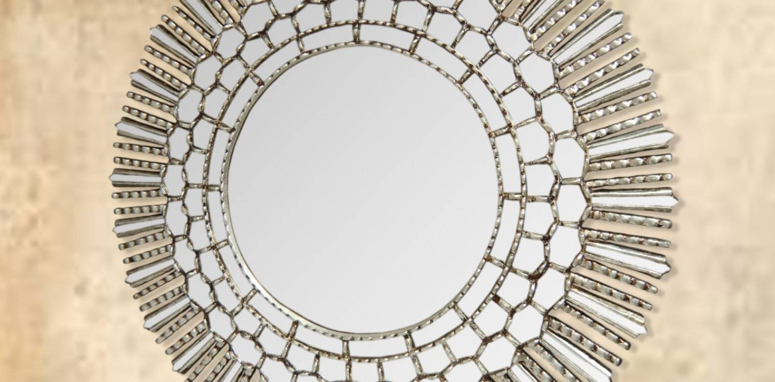 Mirror : Sensational Stunning Decorative Round Gold Mirrors regarding Large Round Gold Mirrors (Image 5 of 15)