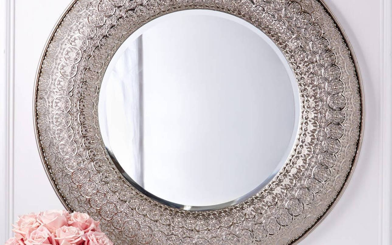 Mirror : Sensational Stunning Decorative Round Gold Mirrors throughout Large Round Gold Mirrors (Image 6 of 15)