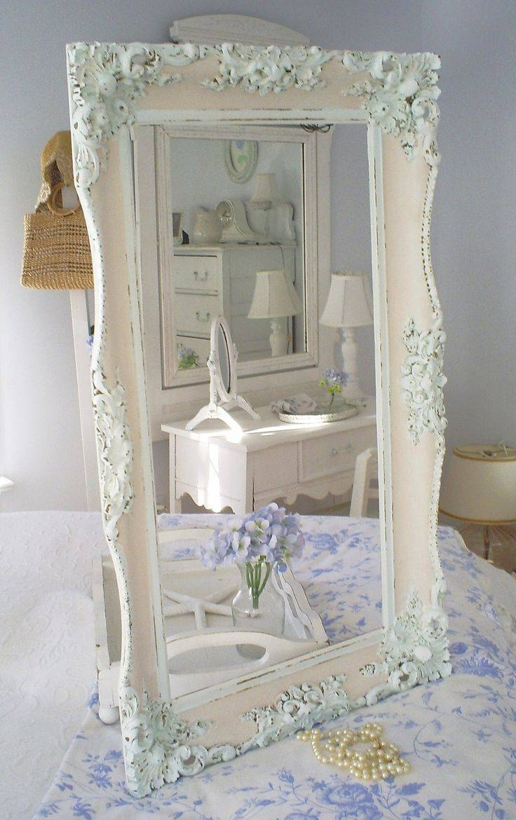 Mirror : Shabby Chic Bevelled Mirror White Distressed Shabby Chic For Shabby Chic White Distressed Mirrors (View 5 of 15)