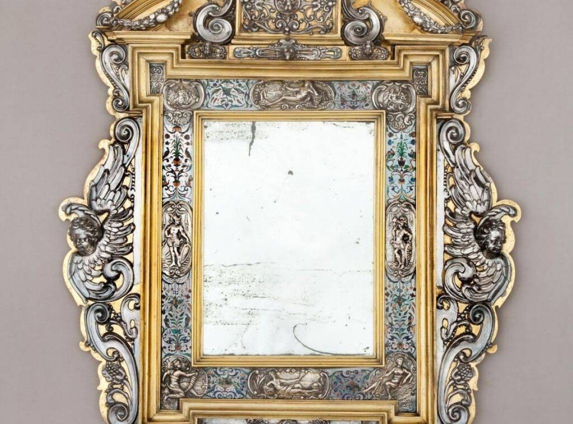 Mirror : Shabby Chic Floor Mirror 4 Outstanding For Baroque in French Chic Mirrors (Image 10 of 15)