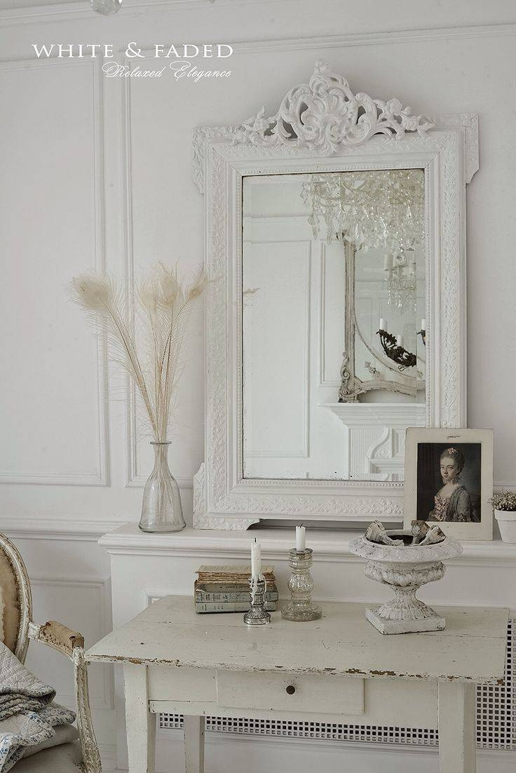 Mirror : Shabby Chic Long Mirror Momentous Shabby Chic Mirror in Large White Shabby Chic Mirrors (Image 7 of 15)