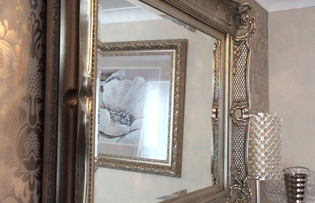 Mirror : Shabby Chic Mirrors Wonderful Large Black Ornate Mirror inside Full Length Ornate Mirrors (Image 11 of 15)
