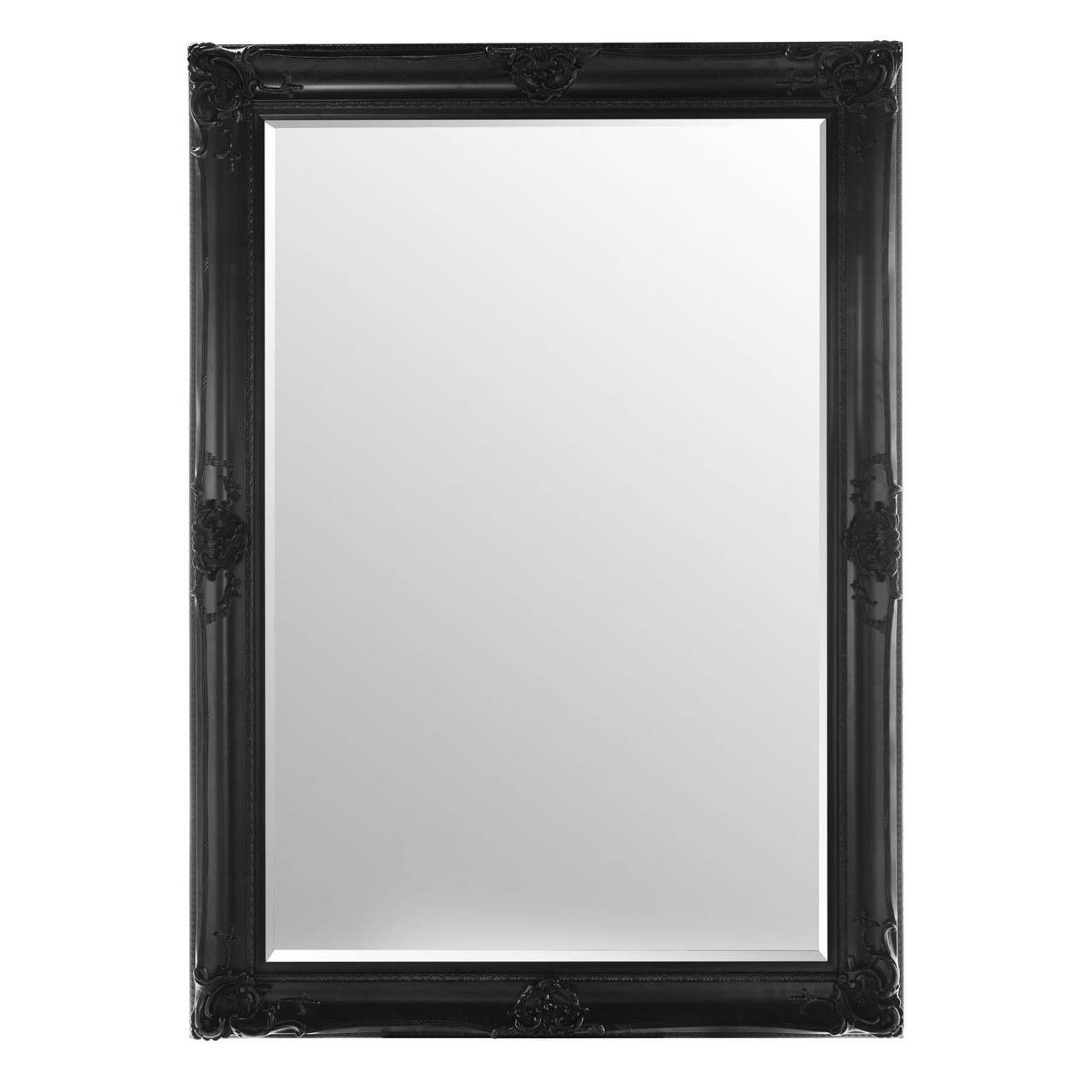 Mirror : Shabby Chic Mirrors Wonderful Large Black Ornate Mirror With Regard To Large Black Ornate Mirrors (View 3 of 15)