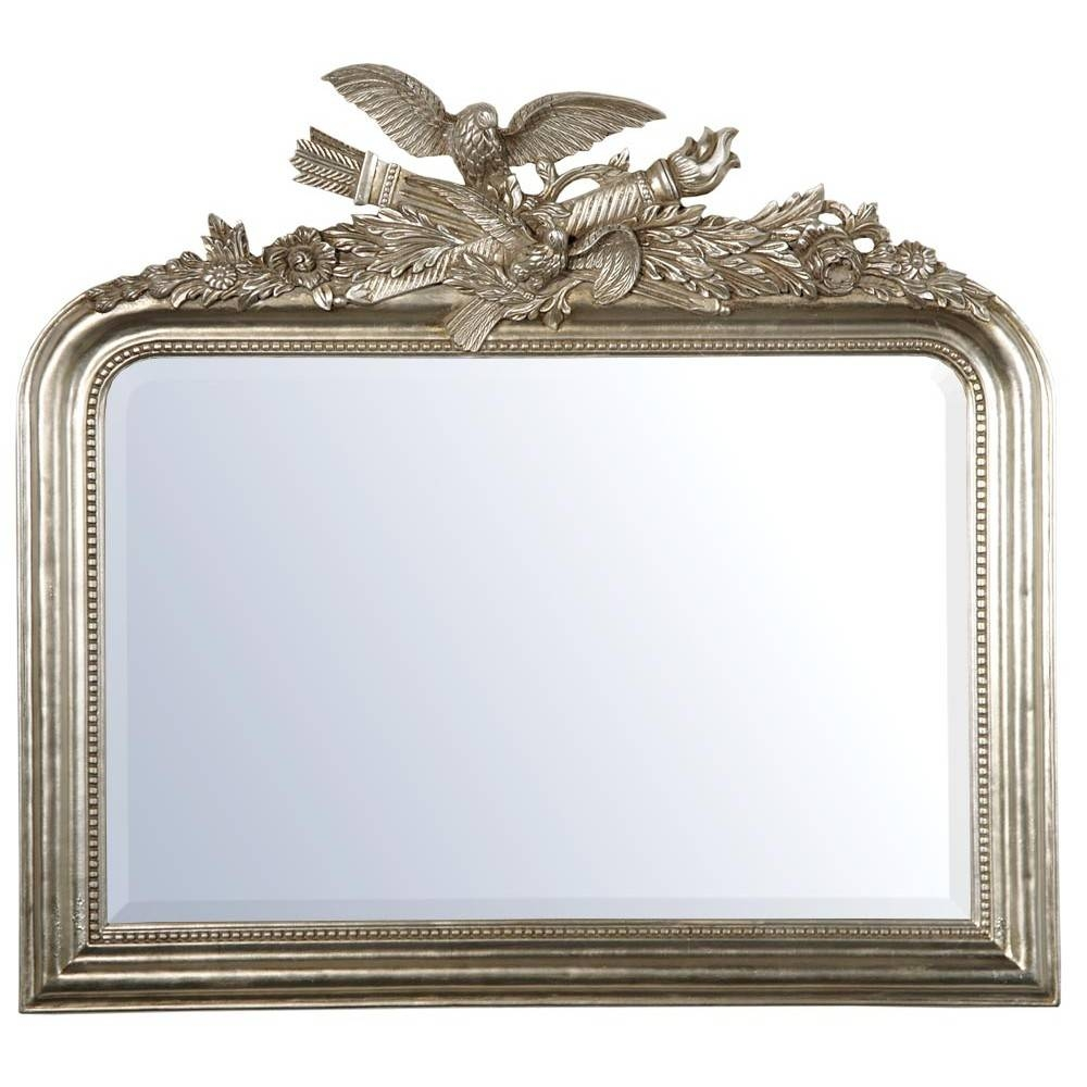 Mirror : Silver Gilt Mirror Riveting Silver Gilt Overmantle Mirror throughout Large Silver Gilt Mirrors (Image 12 of 15)
