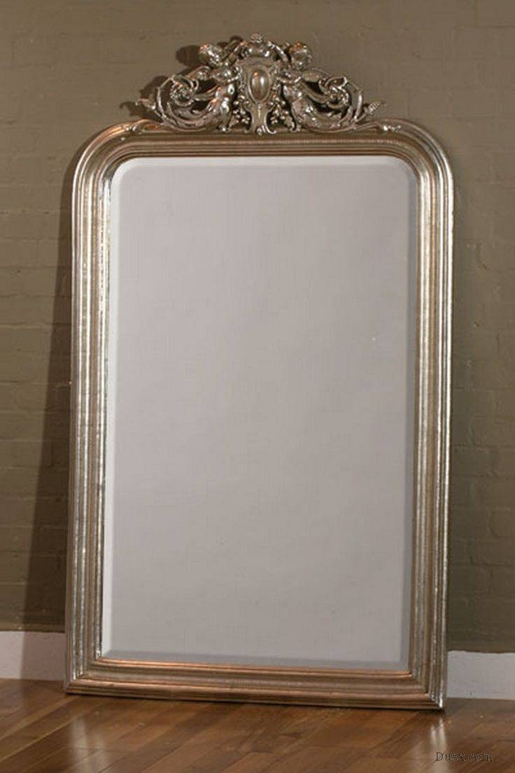 Mirror : Silver Gilt Mirror Riveting Silver Gilt Overmantle Mirror With Regard To Silver Gilded Mirrors (View 11 of 15)