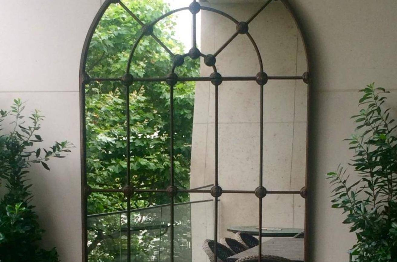 Mirror : Small Backyard Stunning Large Outdoor Garden Mirrors Within Large Outdoor  Garden Mirrors (Photo