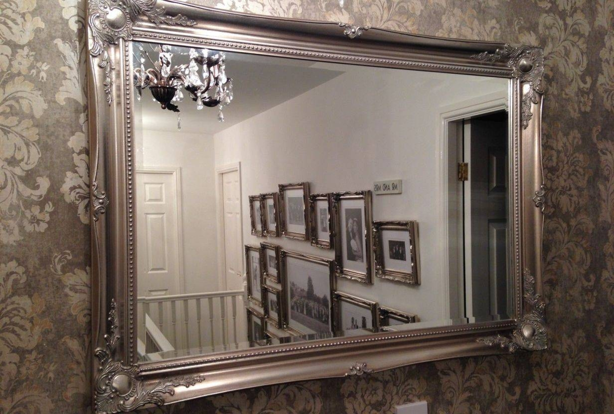 Mirror : Stunning Large Ornamental Mirrors Leaning Floor Mirror regarding Large Ornamental Mirrors (Image 11 of 15)