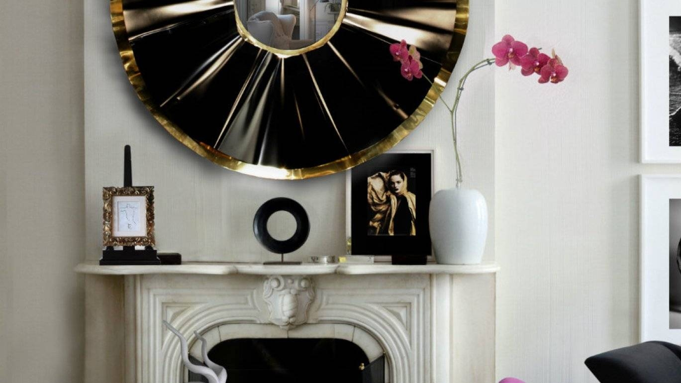 Mirror : Stunning Round Convex Wall Mirror Hang This Artistic Wall With Regard To Large Artistic Mirrors (View 12 of 15)