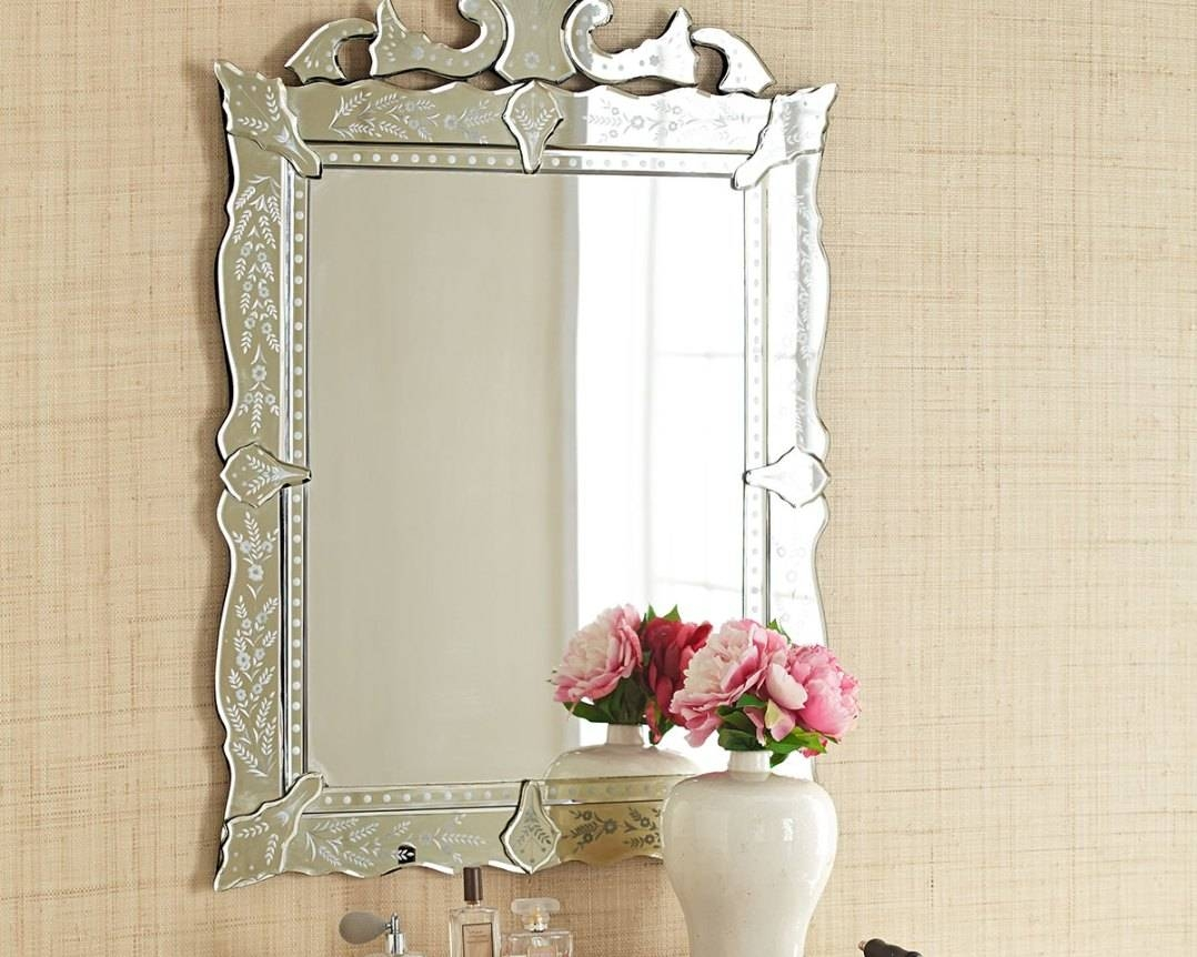 Mirror : Stunning Venetian Bathroom Mirror Bathroom Mirror Led throughout Venetian Beaded Mirrors (Image 5 of 15)