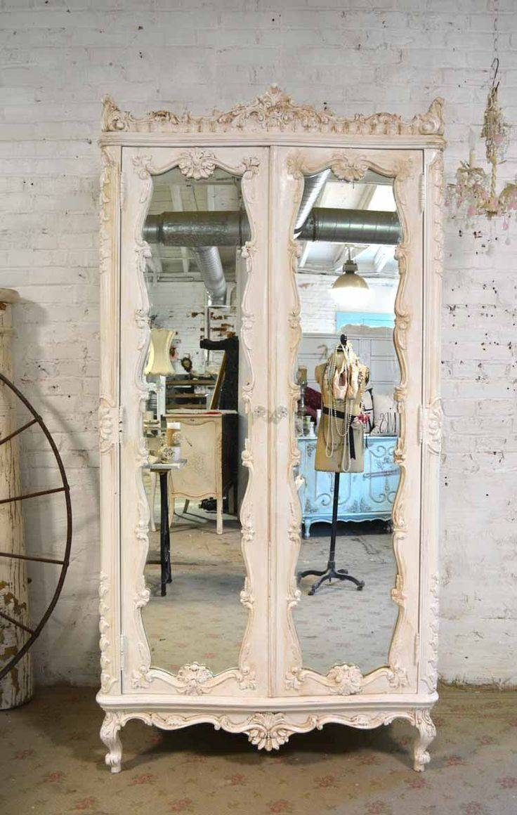 Mirror : Stunning White Distressed Mirror Shabby Chic Dressing For Shabby Chic White Distressed Mirrors (View 6 of 15)