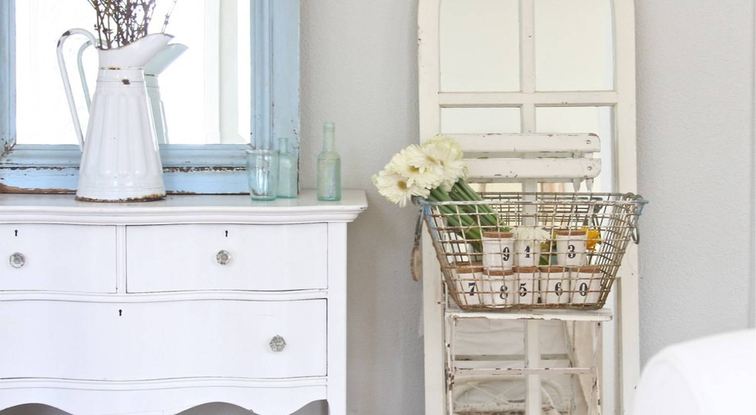 Mirror : Stunning White Distressed Mirror Shabby Chic Tri Fold With Shabby Chic White Distressed Mirrors (View 9 of 15)
