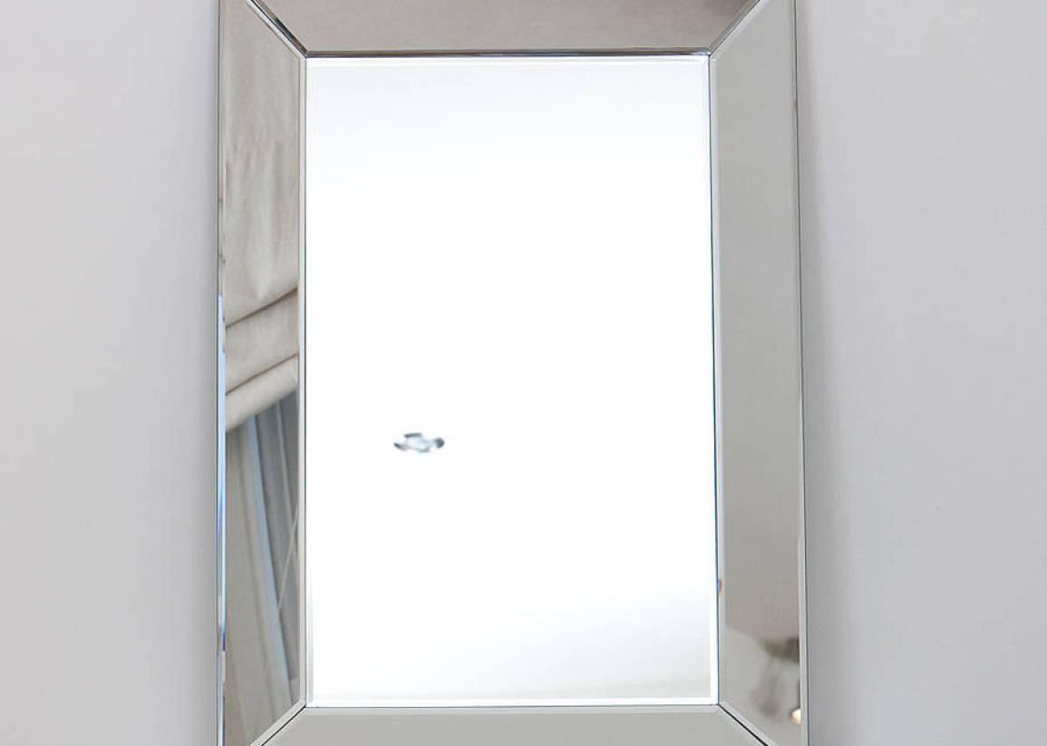 Mirror : Unframed Bathroom Mirror Amazing Bevelled Mirror Glass throughout Double Bevelled Mirrors (Image 13 of 15)