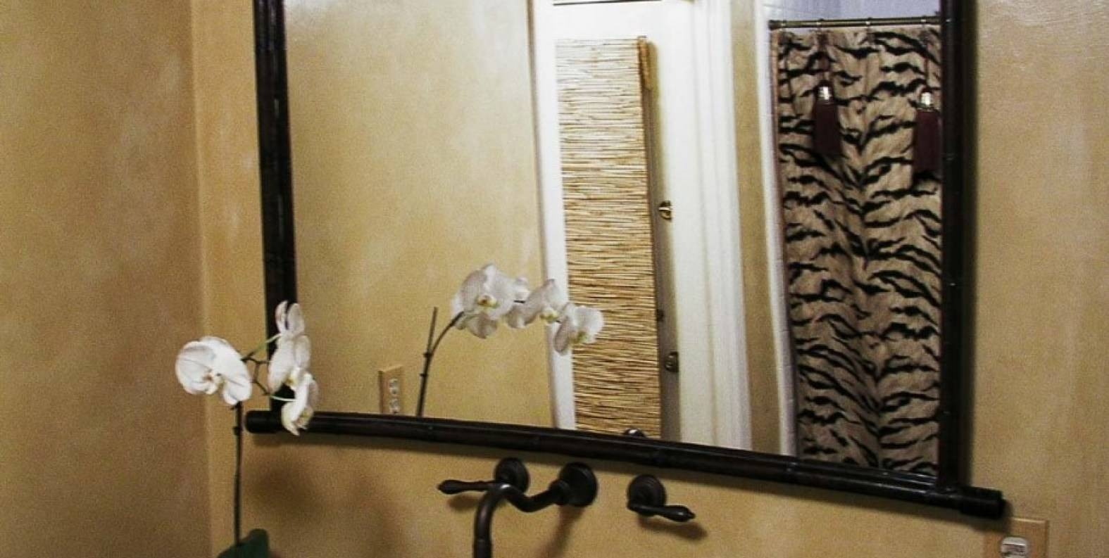 Mirror : Valuable Black Faux Leather Framed Mirror Breathtaking within Black Leather Framed Mirrors (Image 6 of 15)