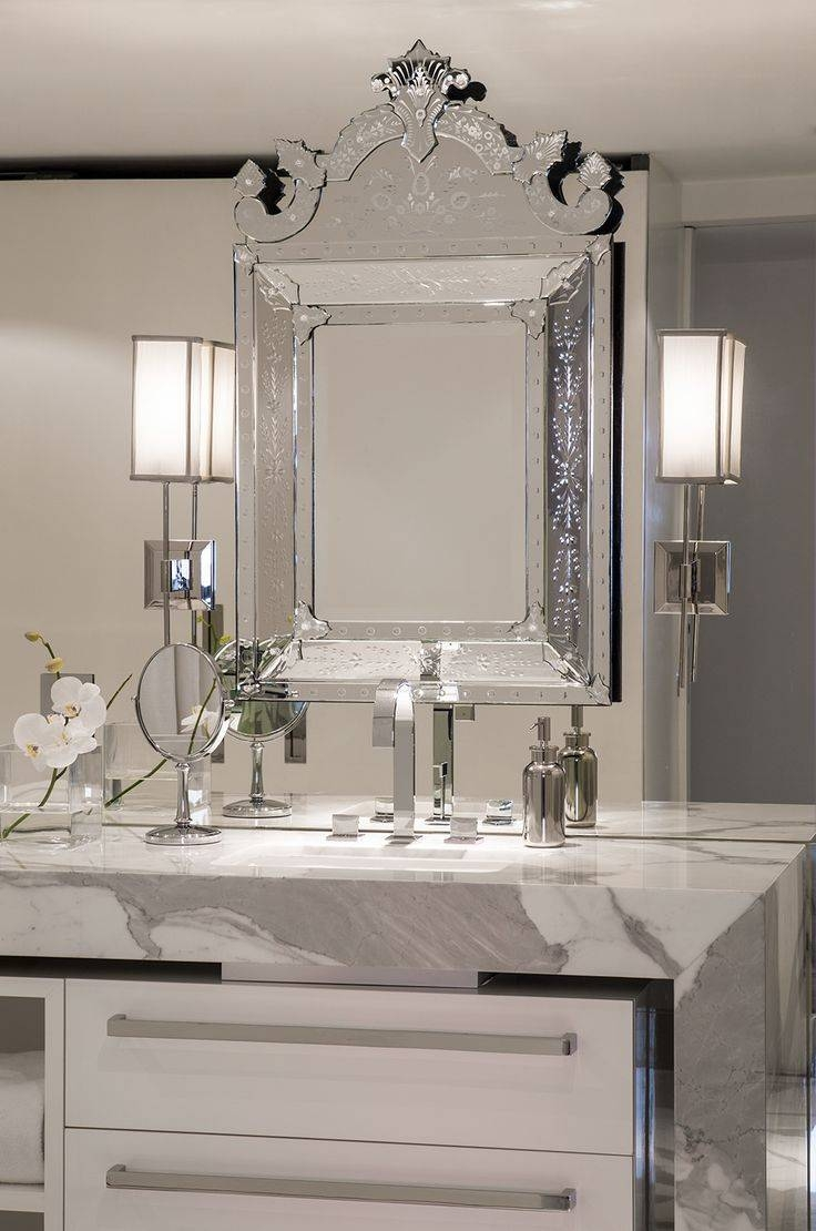 Mirror : Venetian Mirrors Venetian Mirror Bathroom Engaging Throughout Venetian Beaded Mirrors (View 7 of 15)