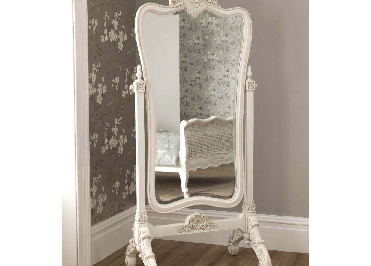 Mirror : Vintage Floor Mirror Stunning French Style Full Length intended for Large Vintage Floor Mirrors (Image 11 of 15)