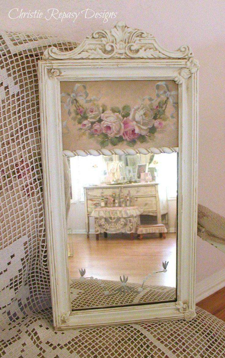Mirror : Vintage Shab Chic White Cream French Ornate Wall Mirror Inside Cream Shabby Chic Mirrors (View 12 of 15)