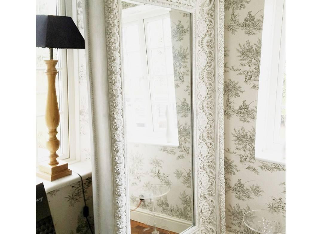Mirror : Vintage Style White Freestanding Ornate Long Full Length Regarding Long Vintage Mirrors (View 11 of 15)