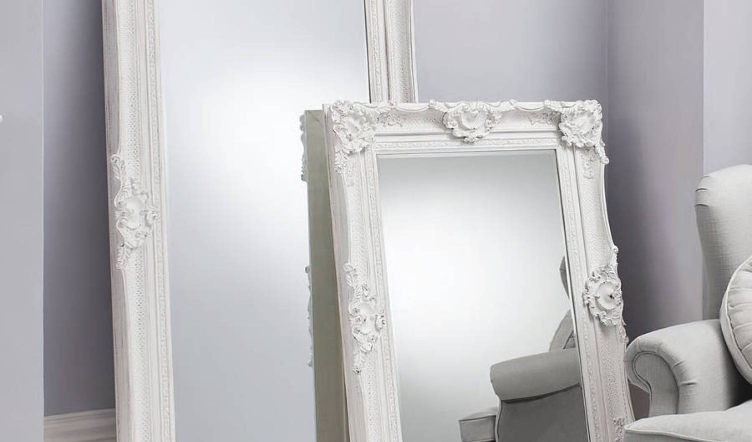 Mirror : White Floor Length Mirror Enchanting Ideas With Vintage intended for Large Black Vintage Mirrors (Image 12 of 15)