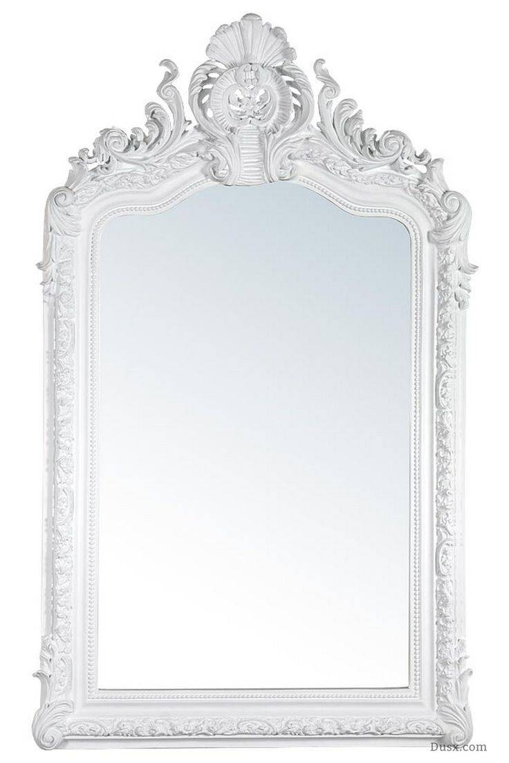 2018 best of large white shabby chic mirrors for Large white mirror