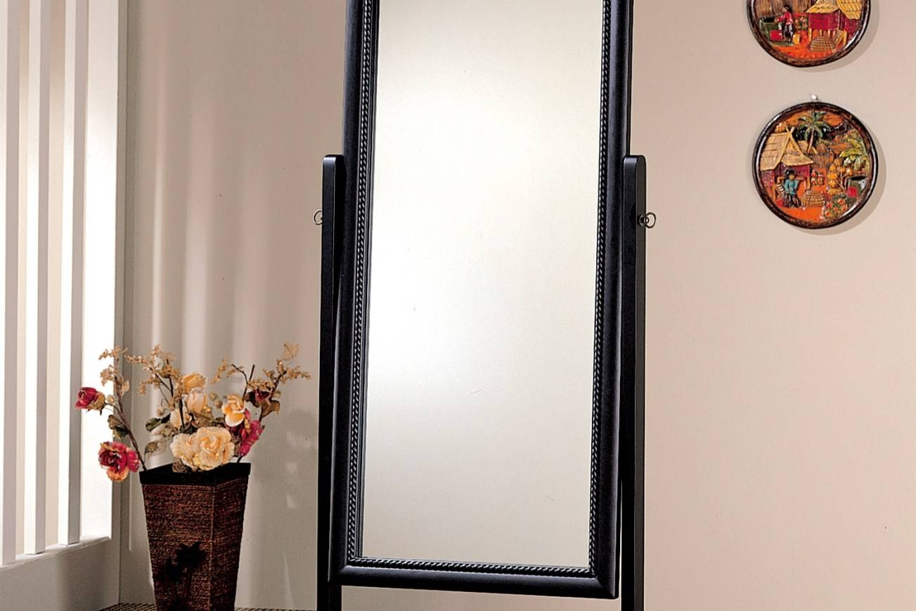 Mirror : Wonderful Cream Floor Standing Mirror Floor Standing intended for Cream Floor Standing Mirrors (Image 12 of 15)