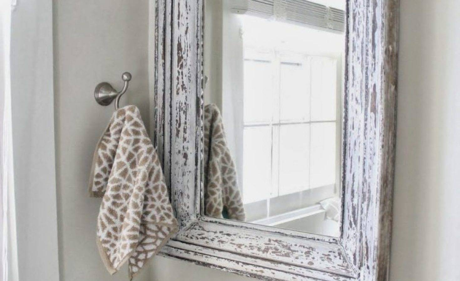 Mirror : Wonderful Decoration Shab Chic Wall Mirror Marvellous Pertaining To Shabby Chic White Mirrors (View 10 of 15)